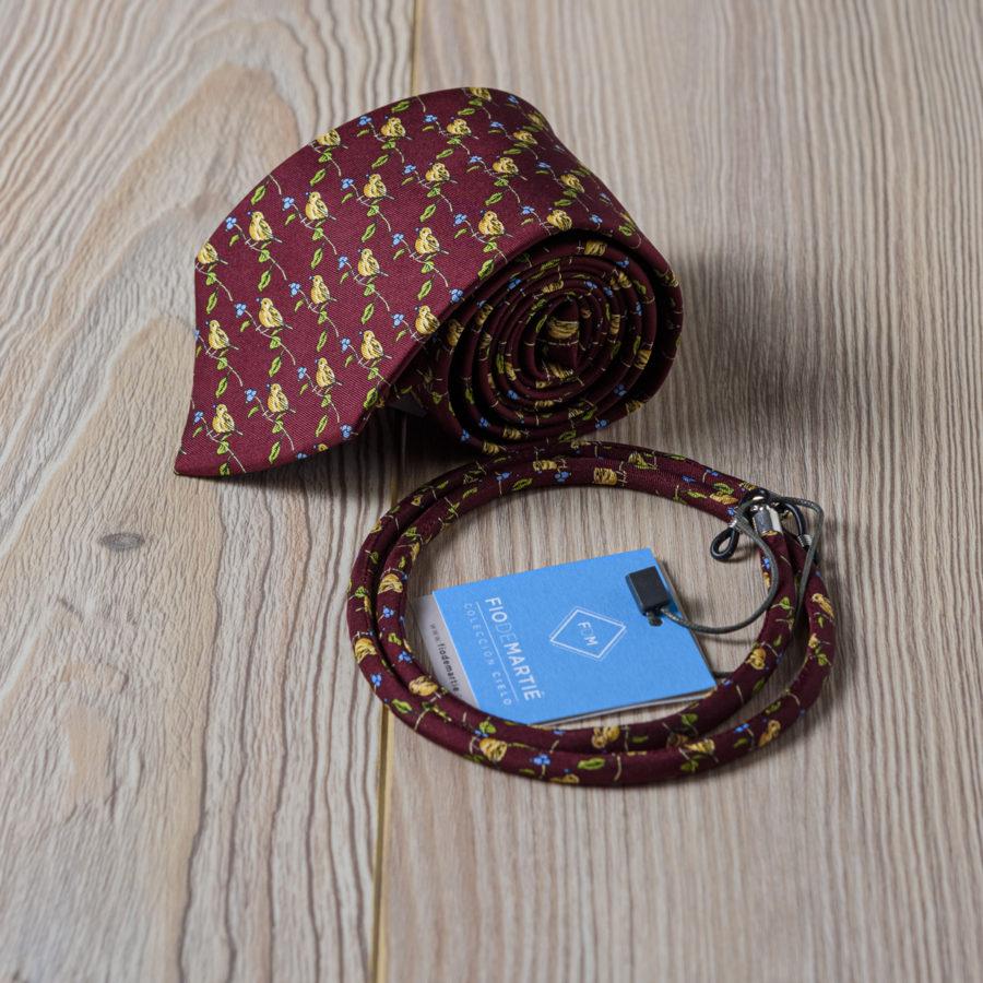 Corbata y cordón Fio de Martie bandadas de pájaros