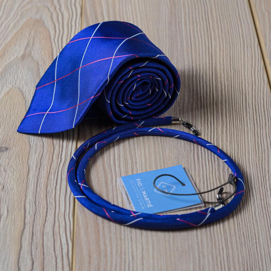 Corbata y cordón Fio de Martie Blue Sky