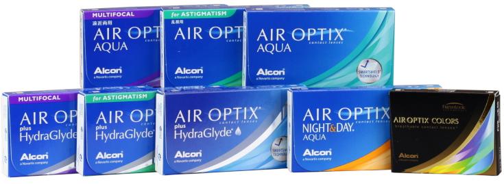 Lentillas de silicona Air Optix HydraGlyde